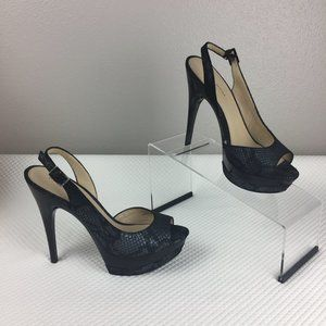 NEW! Leather Snakeskin and Lacquer Stilettos 7.5